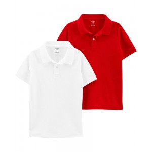 2-Pack Pique Polos