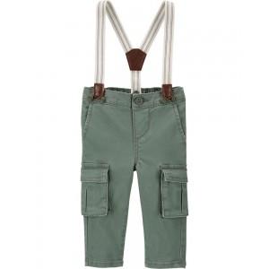 Stretch Cargo Suspender Pants
