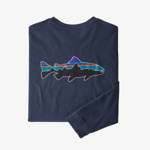 Mens Long-Sleeved Fitz Roy Trout Responsibili-Tee