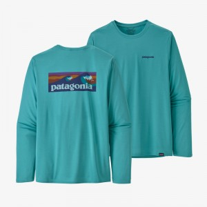 Mens Long-Sleeved Capilene Cool Daily Graphic Shirt