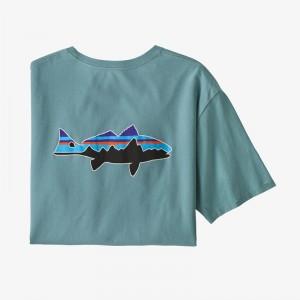 Mens Fitz Roy Fish Organic Cotton T-Shirt