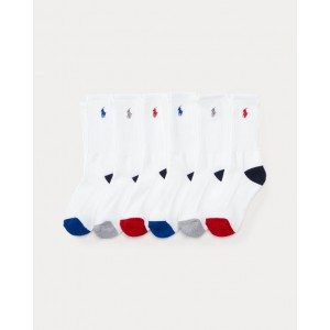 Athletic Crew Sock 6-Pack White