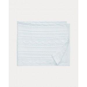 Aran Knit Cotton Blanket