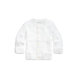 Aran Knit Cotton Cardigan