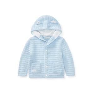 Bear Hood Cotton Cardigan