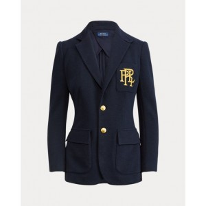 Knit Cotton Blazer Park Avenue Navy