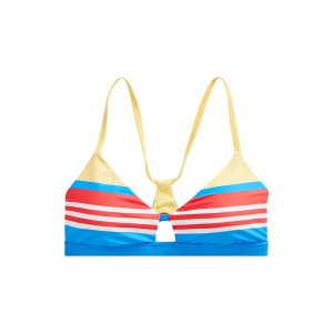 Striped Racerback Bikini Top Multi