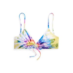 Tie-Dye O-Ring Bikini Top Multi