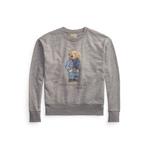Polo Bear Fleece Sweatshirt Dark Vintage Heather