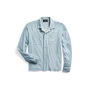 Plaid Print Jersey Camp Shirt