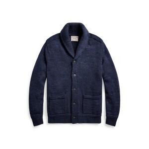 Cotton Shawl Collar Cardigan