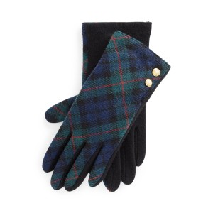 Plaid Two Button Tech Gloves