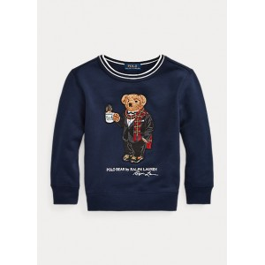 Coffee Polo Bear Fleece Sweatshirt