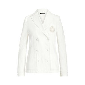 Stretch Cotton Canvas Jacket White