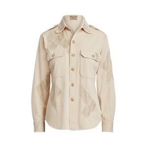 Beaded Cotton Twill Shirt