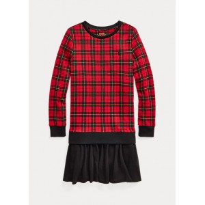 Buffalo Check Terry Sweatshirt Dress
