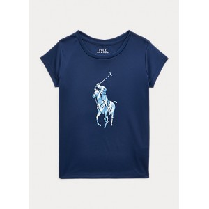 Tie-Dye-Pony Interlock Tee