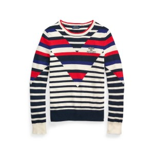 Striped Cashmere Sweater Blue/White Stripe