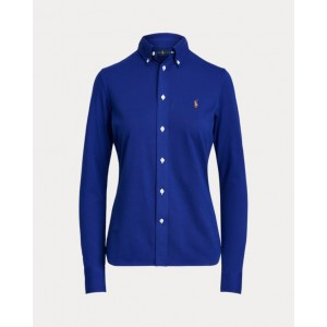 Knit Cotton Oxford Shirt Sporting Royal