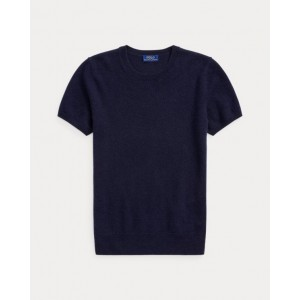 Cashmere Short-Sleeve Sweater Hunter Navy