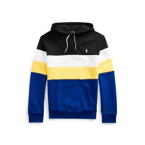 Color Blocked Double Knit Hoodie