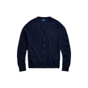 Cotton Linen V Neck Cardigan