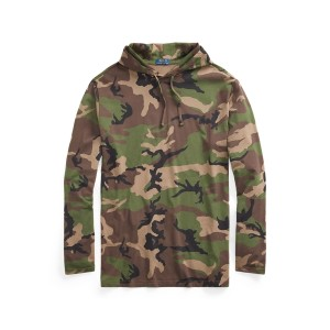 Camo Jersey Hooded T Shirt