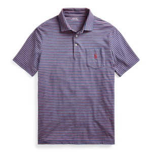 Striped Performance Jersey Polo Shirt