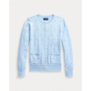 Diamond Knit Cotton Cardigan