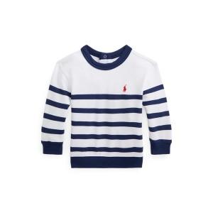 Striped Spa Terry Sweatshirt