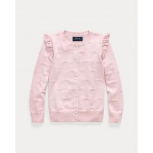 Heart Knit Cotton Cardigan