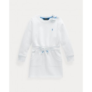 Cotton-Blend-Fleece Dress White