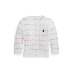 Striped Mini Cable Cotton Cardigan