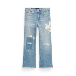 Distressed Cropped Flare Jean