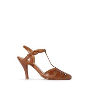 Vachetta Leather Closed Toe Sandal