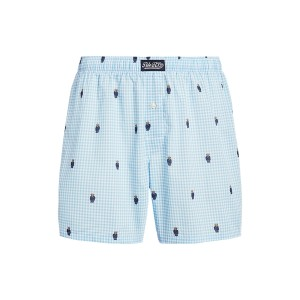 Polo Bear Gingham Cotton Boxer