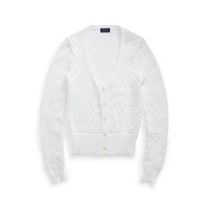 Cotton Pointelle Cardigan
