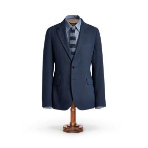 Indigo Striped Suit Jacket
