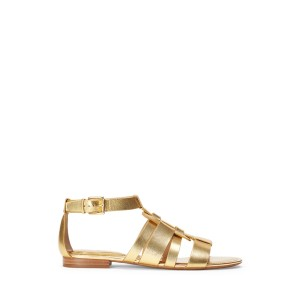 Elianna Metallic Leather Sandal