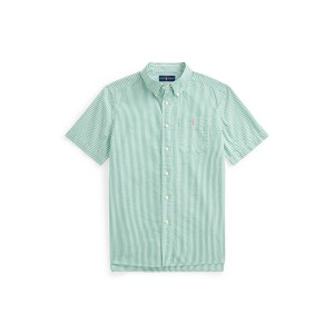Striped Cotton Seersucker Shirt
