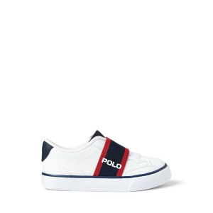 Theron Faux Leather Slip On Sneaker