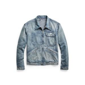 Distressed Indigo Denim Jacket