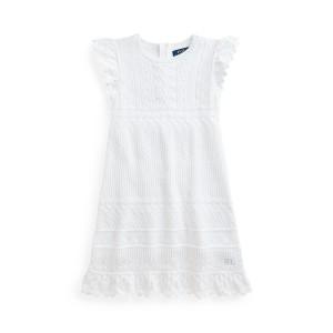 Pointelle Knit Cotton Sweater Dress