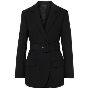Black Belted stretch-twill blazer