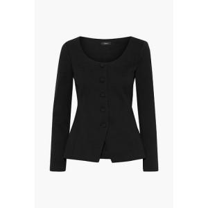 Black Cotton-blend twill jacket