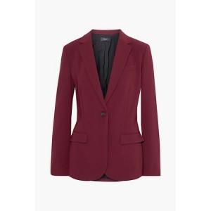 Claret Staple crepe blazer