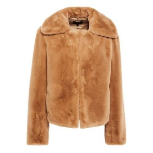 Camel Luxe faux fur jacket