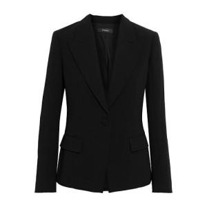 Black Angled crepe blazer
