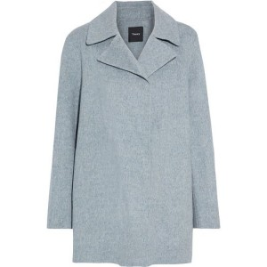 Gray Overlay wool and cashmere-blend felt coat