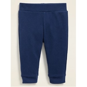 Unisex Solid Jersey-Knit Leggings for Baby